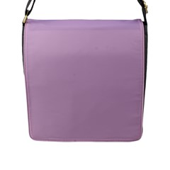 Pastel Color - Magentaish Gray Flap Messenger Bag (L)