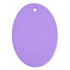 Pastel Color - Pale Blue Violet Ornament (Oval)
