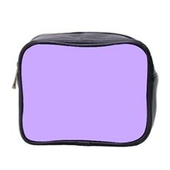 Pastel Color - Pale Blue Violet Mini Toiletries Bag 2-Side