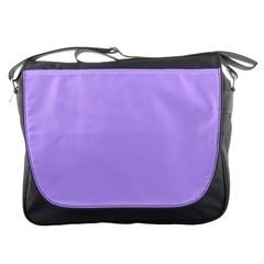 Pastel Color - Pale Blue Violet Messenger Bags