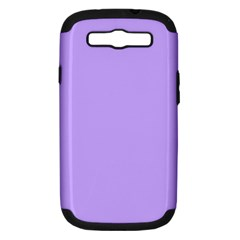 Pastel Color - Pale Blue Violet Samsung Galaxy S III Hardshell Case (PC+Silicone)