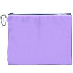 Pastel Color - Pale Blue Violet Canvas Cosmetic Bag (XXXL)
