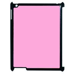 Pastel Color - Pale Cerise Apple iPad 2 Case (Black)