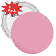 Pastel Color - Pale Crimson 3  Buttons (100 pack)
