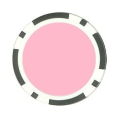 Pastel Color - Pale Crimson Poker Chip Card Guard