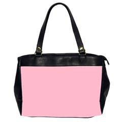 Pastel Color - Pale Crimson Office Handbags (2 Sides)