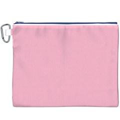 Pastel Color - Pale Crimson Canvas Cosmetic Bag (XXXL)