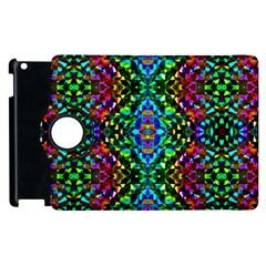 Glittering Kaleidoscope Mosaic Pattern Apple iPad 2 Flip 360 Case