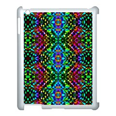 Glittering Kaleidoscope Mosaic Pattern Apple iPad 3/4 Case (White)