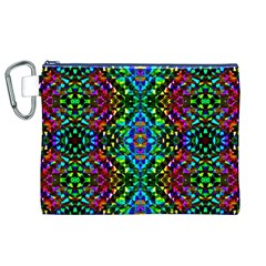 Glittering Kaleidoscope Mosaic Pattern Canvas Cosmetic Bag (XL)