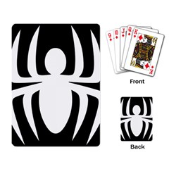 White Spider Playing Card