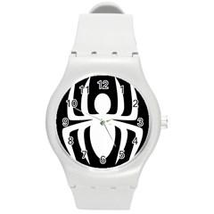 White Spider Round Plastic Sport Watch (M)