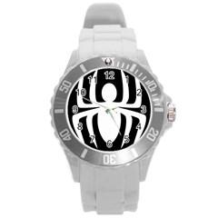 White Spider Round Plastic Sport Watch (L)