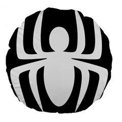White Spider Large 18  Premium Round Cushions
