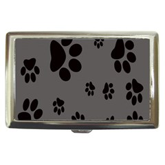 Dog Foodprint Paw Prints Seamless Background And Pattern Cigarette Money Cases
