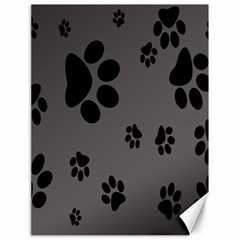 Dog Foodprint Paw Prints Seamless Background And Pattern Canvas 18  x 24
