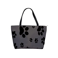 Dog Foodprint Paw Prints Seamless Background And Pattern Shoulder Handbags