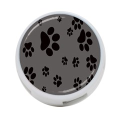 Dog Foodprint Paw Prints Seamless Background And Pattern 4-Port USB Hub (One Side)