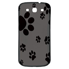 Dog Foodprint Paw Prints Seamless Background And Pattern Samsung Galaxy S3 S III Classic Hardshell Back Case