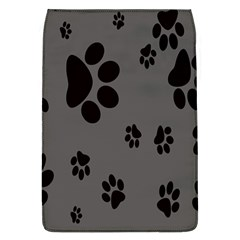 Dog Foodprint Paw Prints Seamless Background And Pattern Flap Covers (L)
