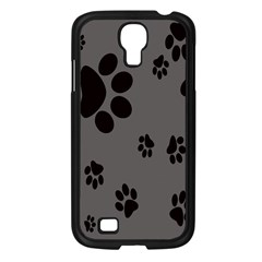 Dog Foodprint Paw Prints Seamless Background And Pattern Samsung Galaxy S4 I9500/ I9505 Case (Black)