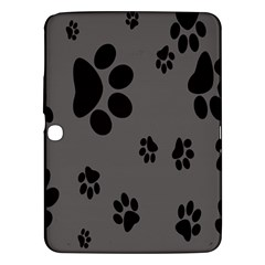 Dog Foodprint Paw Prints Seamless Background And Pattern Samsung Galaxy Tab 3 (10.1 ) P5200 Hardshell Case