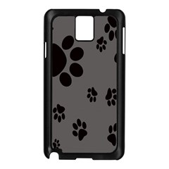 Dog Foodprint Paw Prints Seamless Background And Pattern Samsung Galaxy Note 3 N9005 Case (Black)