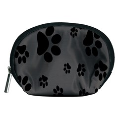 Dog Foodprint Paw Prints Seamless Background And Pattern Accessory Pouches (Medium)