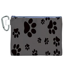 Dog Foodprint Paw Prints Seamless Background And Pattern Canvas Cosmetic Bag (XL)