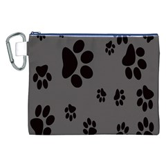 Dog Foodprint Paw Prints Seamless Background And Pattern Canvas Cosmetic Bag (XXL)