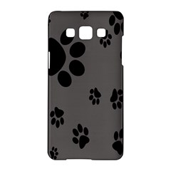 Dog Foodprint Paw Prints Seamless Background And Pattern Samsung Galaxy A5 Hardshell Case