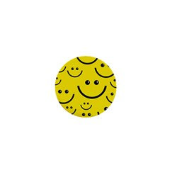 Digitally Created Yellow Happy Smile  Face Wallpaper 1  Mini Magnets