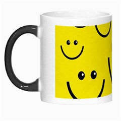 Digitally Created Yellow Happy Smile  Face Wallpaper Morph Mugs