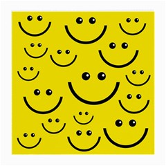 Digitally Created Yellow Happy Smile  Face Wallpaper Medium Glasses Cloth (2-Side)