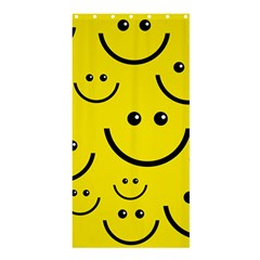 Digitally Created Yellow Happy Smile  Face Wallpaper Shower Curtain 36  x 72  (Stall)