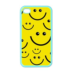 Digitally Created Yellow Happy Smile  Face Wallpaper Apple iPhone 4 Case (Color)