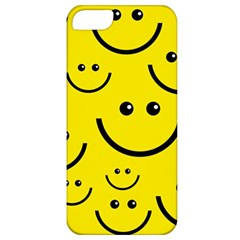 Digitally Created Yellow Happy Smile  Face Wallpaper Apple iPhone 5 Classic Hardshell Case