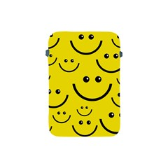 Digitally Created Yellow Happy Smile  Face Wallpaper Apple iPad Mini Protective Soft Cases