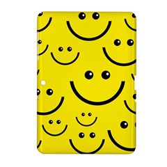 Digitally Created Yellow Happy Smile  Face Wallpaper Samsung Galaxy Tab 2 (10.1 ) P5100 Hardshell Case