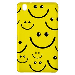 Digitally Created Yellow Happy Smile  Face Wallpaper Samsung Galaxy Tab Pro 8.4 Hardshell Case