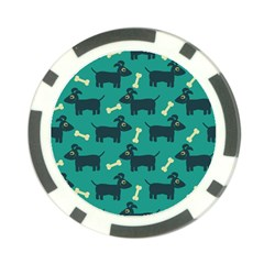 Happy Dogs Animals Pattern Poker Chip Card Guard
