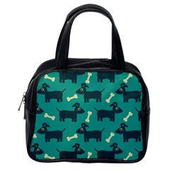 Happy Dogs Animals Pattern Classic Handbags (One Side)