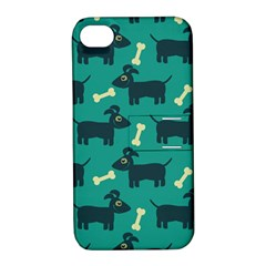 Happy Dogs Animals Pattern Apple iPhone 4/4S Hardshell Case with Stand