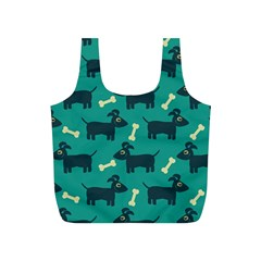 Happy Dogs Animals Pattern Full Print Recycle Bags (S)