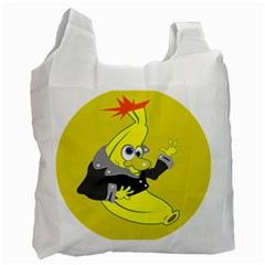 Funny Cartoon Punk Banana Illustration Recycle Bag (Two Side)