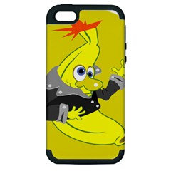 Funny Cartoon Punk Banana Illustration Apple iPhone 5 Hardshell Case (PC+Silicone)