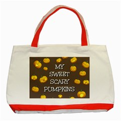 Hallowen My Sweet Scary Pumkins Classic Tote Bag (Red)