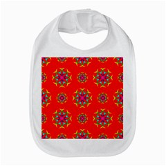Rainbow Colors Geometric Circles Seamless Pattern On Red Background Amazon Fire Phone