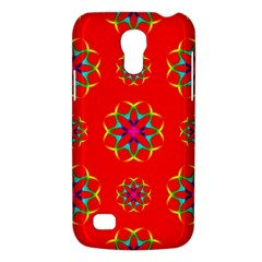 Rainbow Colors Geometric Circles Seamless Pattern On Red Background Galaxy S4 Mini