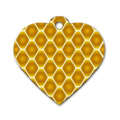 Snake Abstract Pattern Dog Tag Heart (One Side)